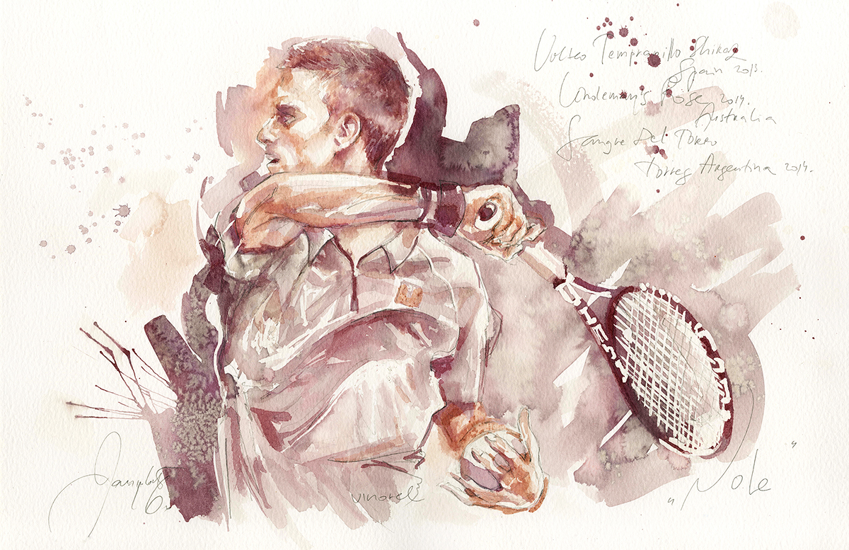A piece created specially for Foreground, celebrating Novak-Djokovic.