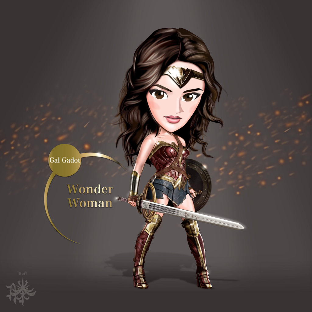 One of his latest pieces: Wonder Woman